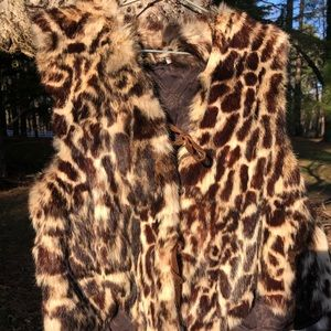 Vintage Ocelot (?!) vest; beautiful condition.